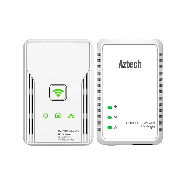 Internet Aztech Homeplug Bundle HL117E and HL117EW