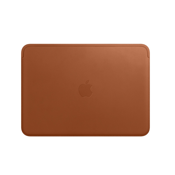 Leather Sleeve for 12‑inch MacBook — Saddle Brown