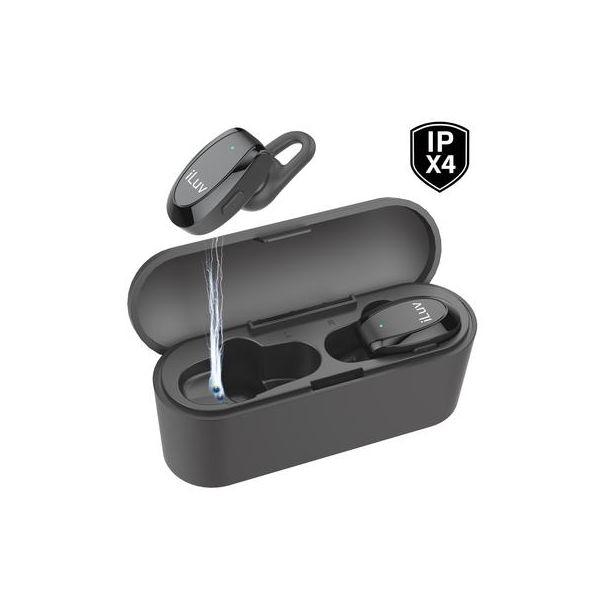 iLuv True Wireless In-Ear Fitness Earbuds w/charging case