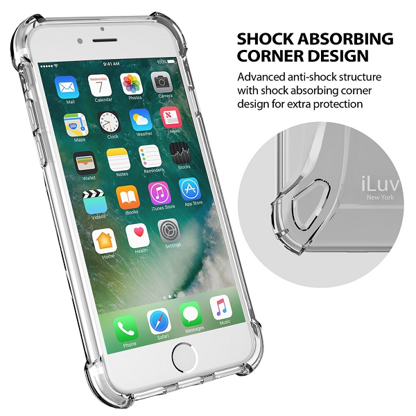 iLuv Clear tpu case with ring design for iph8