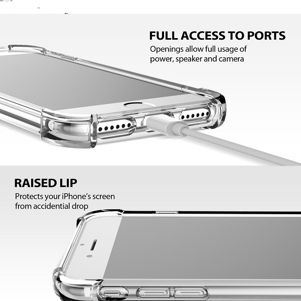 iLuv Clear tpu case with ring design -iphoneX