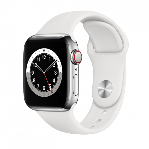 Apple Watch Series 6 GPS Cellular Stainless Steel Sport Band