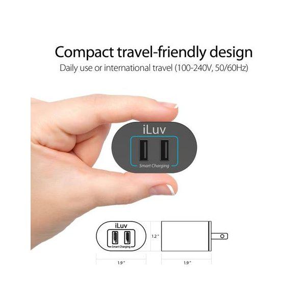iLuv Universal Dual USB Wall Charger
